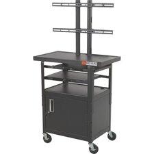 Adjustable Height Flat Panel AV Cart