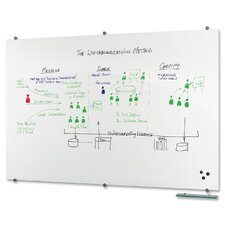 Visionary Magnetic Wall Mounted Whiteboard, 4' H x 6' W