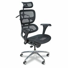 High-Back Mesh Conference Chair with Arms