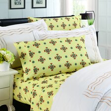 Camellia Floral 1200 Thread Count Sheet Set