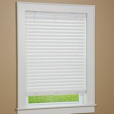 One Touch Cordless Faux Wood Venetian Blind