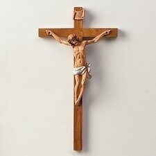"15"" Woodtone Crucifix Wall Décor"