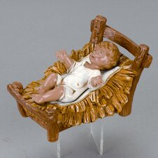 "12"" Scale Infant Jesus with Crib"