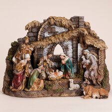 10 Piece Nativity Set with Stable
