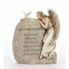 In Memory Angel Garden Stone Statue