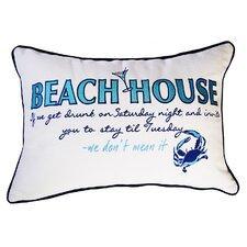 I Sea Life Beachouse Inspiration Cotton Boudoir/Breakfast Pillow
