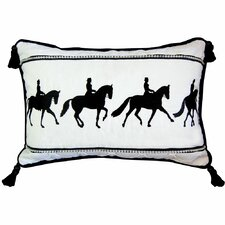 Abigail and Lily Equine Dressage Moves Cotton Boudoir/Breakfast Pillow
