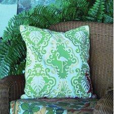 I Sea Life Outdoor Sunbrella Flamingo Throw Pillow