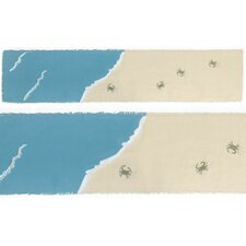 Blue Crab Coastal Table Runner