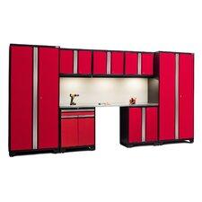 Pro 3.0 Series 8-Piece Garage Storage Cabinet Set with Worktop