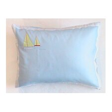 Sailboat Cotton Boudoir Pillow