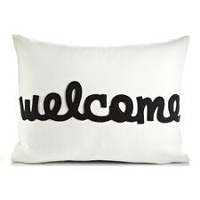 "Celebrate Everyday ""Welcome"" Throw Pillow"