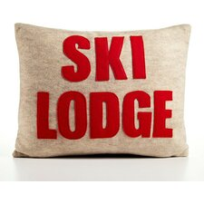 Weekend Getaway Ski Lodge Lumbar Pillow