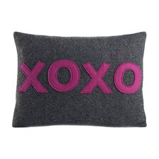 It Starts With A Kiss XOXO Throw Pillow