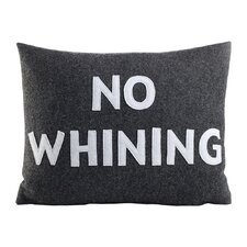 House Rules No Whining Throw Pillow