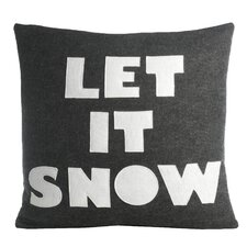 Weekend Getaway Let It Snow Throw Pillow