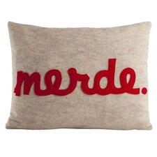 Modern Lexicon Merde Throw Pillow