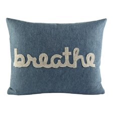 Zen Master Breathe Throw Pillow