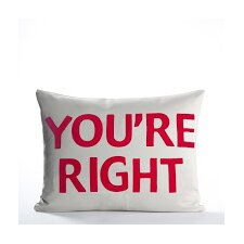 "House Rules ""You're Right"" Throw Pillow"