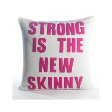 Go To The Gym Stong Is The New Skinny Throw Pillow