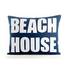 Space Defined Beach House Throw Pillow
