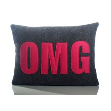 "Modern Lexicon ""OMG"" Throw Pillow"
