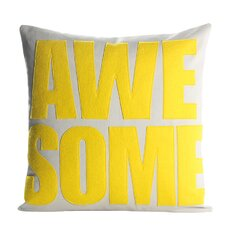 Celebrate Everyday Awesome Throw Pillow