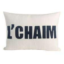 L'Chaim Organic Throw Pillow