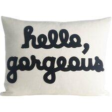 Hello, Gorgeous Canvas Lumbar Pillow