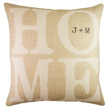 Personalized Home Cotton Throw Pillow