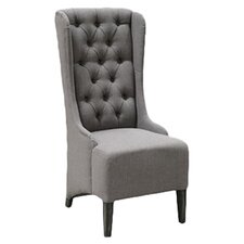 Peterman Tufted Side Chair in Charcoal