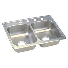 "Dayton 25"" x 19"" Top Mount Double Kitchen Sink"