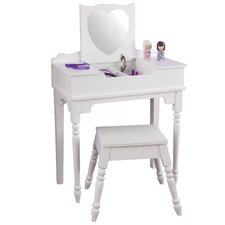Sweetheart 2 Piece Vanity Set with Mirror