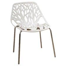 Baxton Studio Birch Sapling Dining Chair in White (Set of 2)