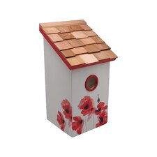 Salt Box Poppy Bird House