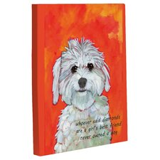 Doggy Decor Girl's Best Friend Painting Print on Canvas
