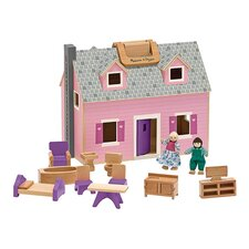 14 Piece Fold and Go Mini Dollhouse
