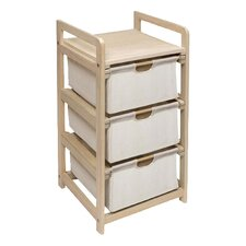 3 Drawer Hamper & Storage Unit