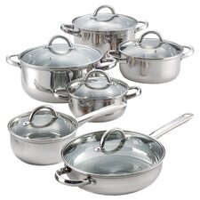 12 Piece Stainless Steel Cookware Set