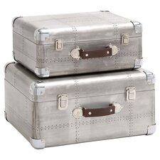 2-Piece London Luggage Decor Set