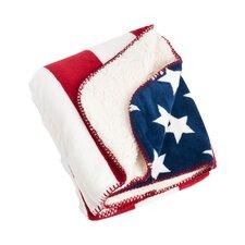 Old Glory US Flag Design Sherpa Throw