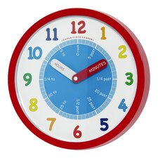 Kids 25cm Tell The Time Wall Clock