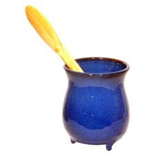 Terracotta Utensil Holder in Blue