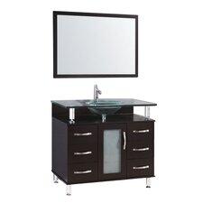 "32"" Single Bathroom Vanity Set with Mirror"