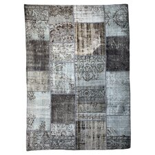 Handgewebter Teppich Vintage in Grau