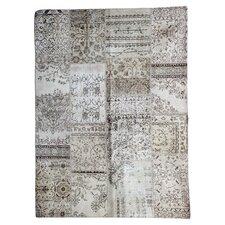 Handgewebter Teppich Vintage in Beige