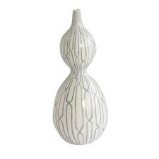 Linking Trellis Double Bulb Vase in Blue