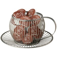 Wire Cup & Saucer K-Cup Pod Holder