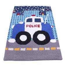 Teppich Kids Unique Collection Police Car