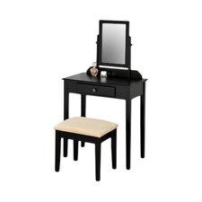 Contemporary Vanity Set with Mirror